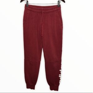 ADIDAS Youth Red Lounge Wear Fleece Sweatpants
